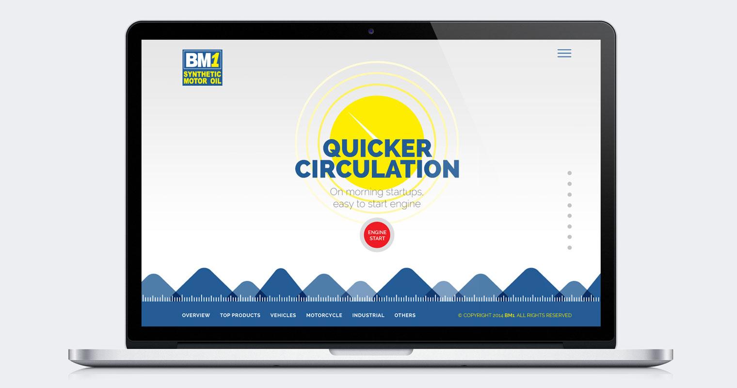 BM1 Motor Oil Website